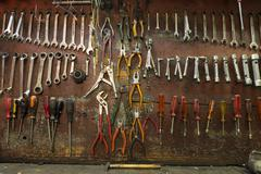 Mechanical workshop tools Stock Photos
