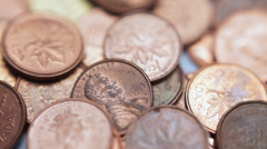 Copper Pennies Stock Footage
