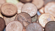 Stock Video Footage of Copper Pennies