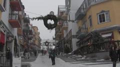 Ski Village at Christmas - stock footage