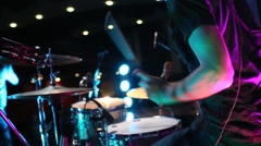 Drumming On Stage Stock Footage