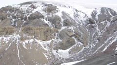 Deception island mountains. Antarctica Stock Footage