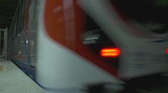 Marmaray Rail Tube Tunnel Stock Footage