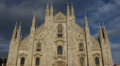 Architecture Building Iconic Milan Duomo Square Cathedral Church Italy Milano Footage