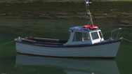 Stock Video Footage of Motorboat at anchor