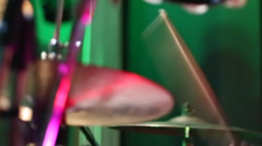 Drumming Close Up On Hi Hats Stock Footage