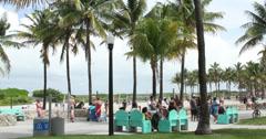 Miami Beach Boardwalk - stock footage