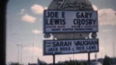 Vintage 8mm film, Flamingo Casino Stock Footage