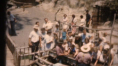 Vintage 8mm film , Disneyland, gold panning Stock Footage
