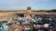 Stock Video Footage of Garbage dump. Bulldozer at garbage landfill. 6