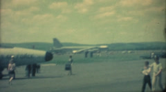Vintage Air Show, Military b52 bomber Stock Footage