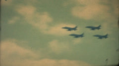 Vintage Air Show, Military,flyby Stock Footage