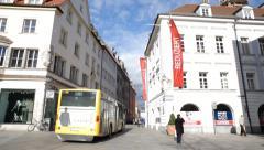 City Bus Regensburg Stock Footage