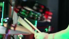 Drumming Close Up Stock Footage