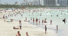 South Beach Shoreline Timelapse - stock footage