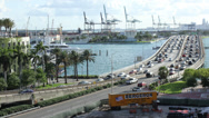 Stock Video Footage of South Beach Exit/Entrance Bridge Timelapse