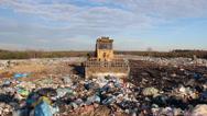 Stock Video Footage of Garbage dump. Bulldozer at garbage landfill. 7