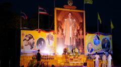 Feast of the king's birthday,phuket,thailand, 09 of december 2013..celebratin Stock Footage