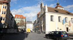 Regensburg Street Stock Footage