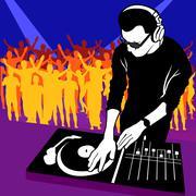 DJ ja musiikki Piirros