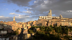 Wonderful city of italy, siena Stock Footage