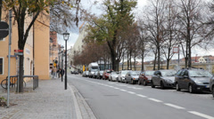 Street In Regensburg Germany Stock Footage