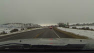 Stock Video Footage of Driving through rural town winter snow fast timelapse POV HD 0224
