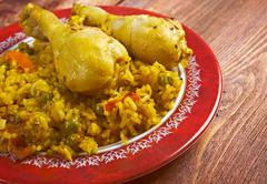 arroz con pollo - stock photo