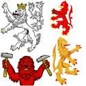 Stock Illustration of Heraldic Lion