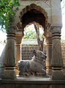 Nandi: Bull of the Hindu God Shiva - stock photo