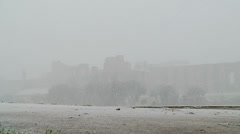 Rome in snow 2 (Circo Massimo) Stock Footage