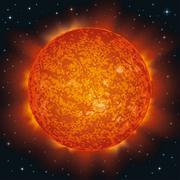 sun in space - stock illustration