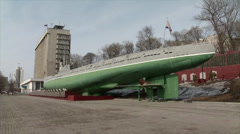 Monument submarine Stock Footage