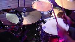 Drumming On Tambourine - stock footage