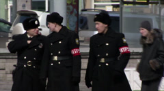 Military Police in Vladivostok - stock footage