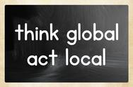 Stock Illustration of think global act local concept