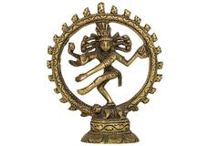 shiva nataraja,  isolated on white background - stock photo