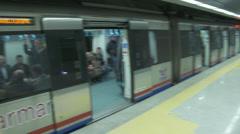Marmaray Tube Tunnel(71) Stock Footage
