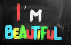 Stock Illustration of i am beautiful concept