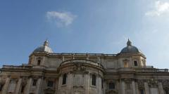 Basilica di Santa Maria Maggiore with Tilt Stock Footage