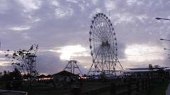 Sky Ranch Ferris Wheel Stock Footage