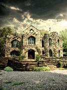 Keskiaikainen linna Kuvituskuvat
