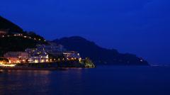 4K 4096x2304 Landscape with seaside village Amalfi, Italy Stock Footage