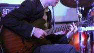 Playing Guitar at Jazz Concert HD Stock Footage