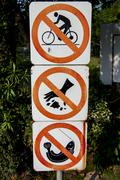 prohibit sign in the park - stock photo