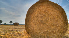 Bale of hay - time lapse Stock Footage