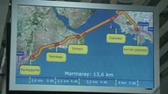 Marmaray Tube Tunnel(74) Stock Footage