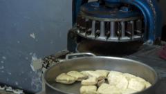 Tortilla Dough cutter divider Stock Footage