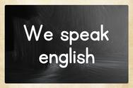 Stock Illustration of we speak english concept