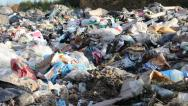 Stock Video Footage of Non biodegradable garbage at landfill.